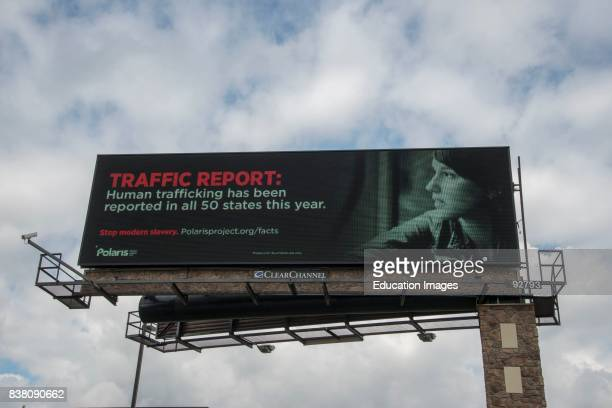 Mounds View Minnesota Antitrafficking billboard put up by the National Human Trafficking Resource Center which is a national hotline and resource...