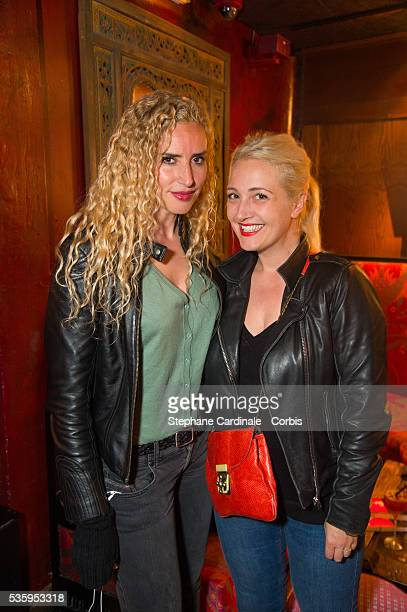 Mounia Briya and Emilie Mazoyer attend the book signing and cocktail party for 'La Fille Au 22' by AnnaVeronique El Baze at Buddha Bar on May 30 2016...