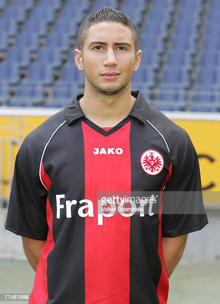 Mounir Chaftar poses during the Bundesliga 1st Team Presentation of Eintracht Frankfurt at the Commerzbank Arena on July 14 2006 in Frankfurt Germany