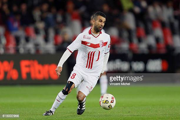 Mounir Obbadi Of Lille during the Ligue 1 match between EA Guingamp and Lille OCS at Stade du Roudourou on October 15, 2016 in Guingamp, France.