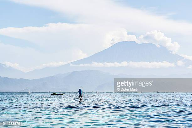 mount agung in bali - didier marti stock photos and pictures