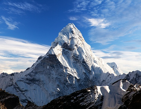 Mount Ama Dablam within clouds 938914580