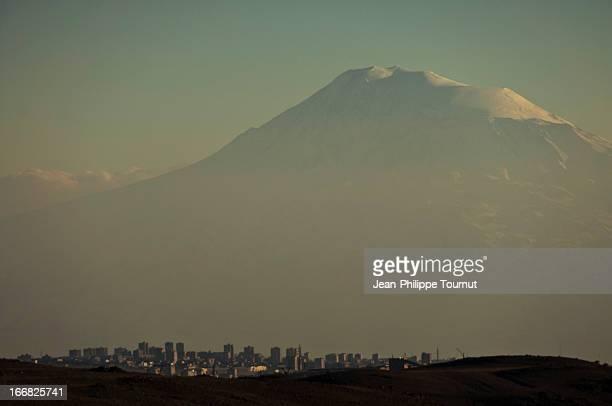 Mount Ararat above Yerevan, Armenia