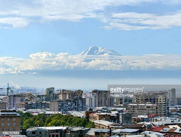 mount ararat and yerevan, armenia - armenia stock pictures, royalty-free photos & images