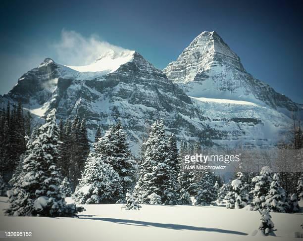 Mount Assiniboine in winter