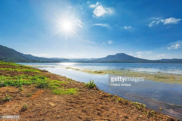 Mount Batur - Lake Batur Kintamani under sunshine