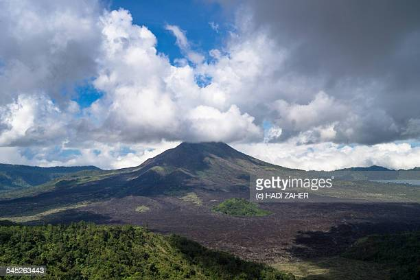 mount batur volcano | bali | indonesia - lake batur stock photos and pictures