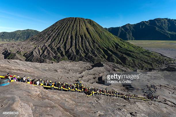 CONTENT] Mount Bromo an active volcano and part of the Tengger massif in East Java Indonesia At 2329 m it is the highest peak of the massif
