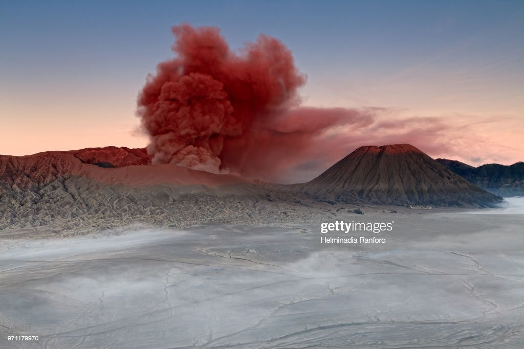 Mount Bromo in India at sunrise. : Stock Photo
