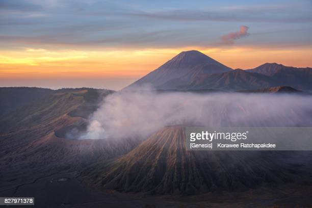 Mount Bromo in the morning sunrise