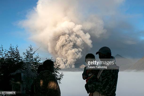 Mount Bromo spews ash into air during a volcanic eruption on July 19, 2016 in Probolinggo, Indonesia. Great Hall of the Bromo Tengger Semeru National...