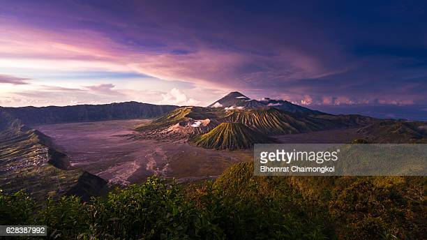 Mount Bromo volcano (Gunung Bromo) in East Java, Indonesia.