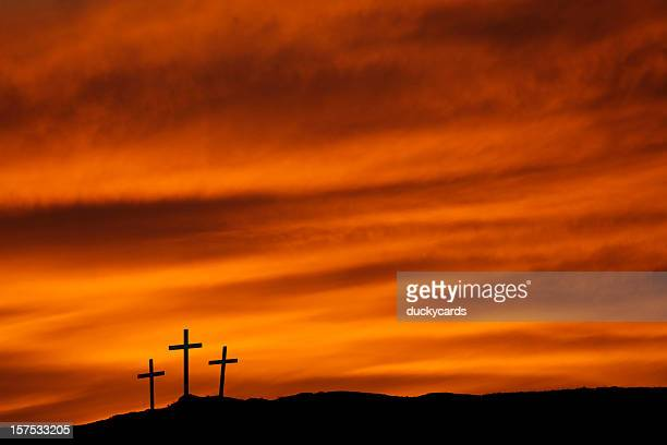 mount calvary sunset - good friday stock pictures, royalty-free photos & images