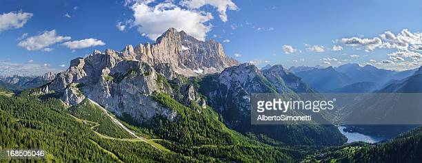 mount civetta panorama (dolomites - italy) - belluno stock pictures, royalty-free photos & images