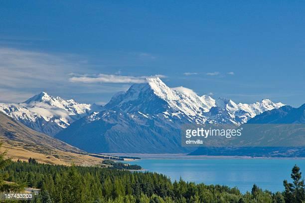 Mount Cook and Lake Pukaki , New Zealand