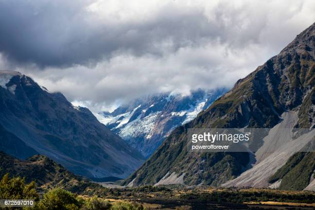 Mount Cook of the Southern Alps in New Zealand