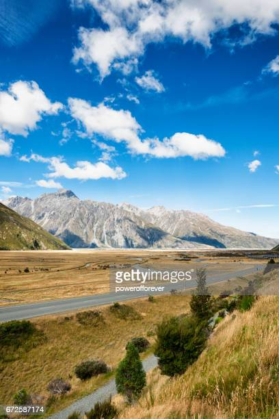 Mount Cook Range of the Southern Alps in New Zealand