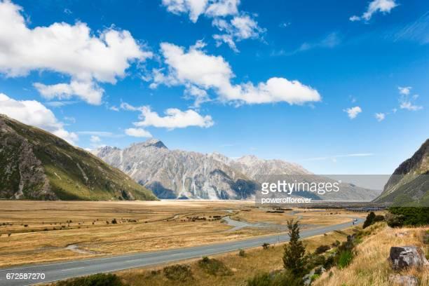 Mount Cook Range des Alpes du Sud, en Nouvelle Zélande