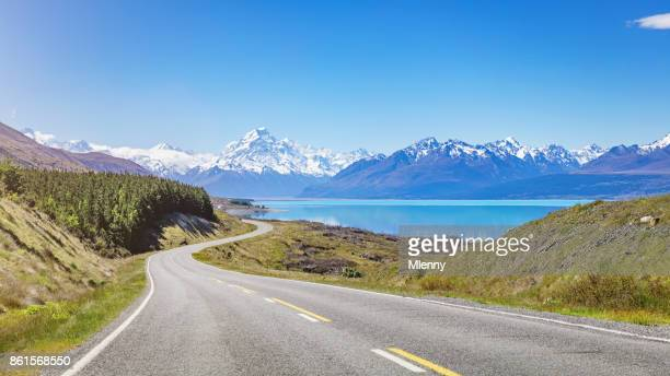 mount cook road trip lake pukaki nya zeeland - new zealand bildbanksfoton och bilder