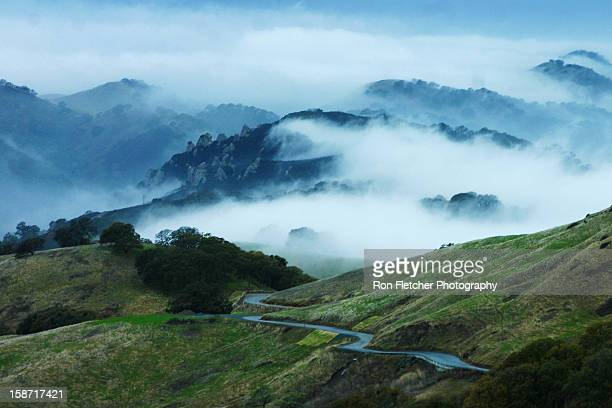 mount diablo fog - foothills stock pictures, royalty-free photos & images