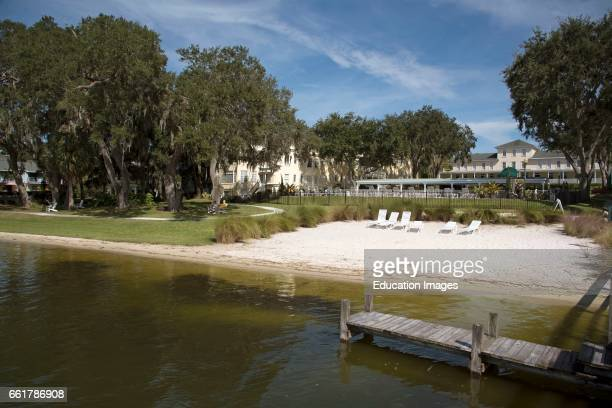 Mount Dora Florida USA Lakeside property and beach of Lake Dora