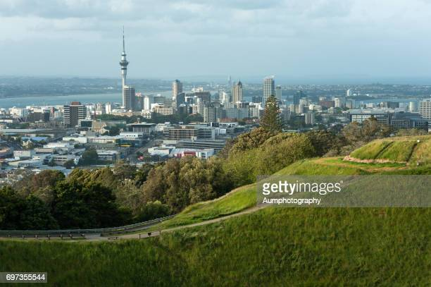 Mount eden and Auckland city New Zealand.
