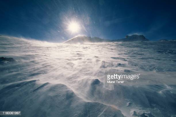 mount erciyes - blizzard stock pictures, royalty-free photos & images