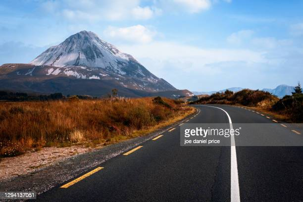 mount errigal, gweedore, county donegal, ireland - international landmark stock pictures, royalty-free photos & images