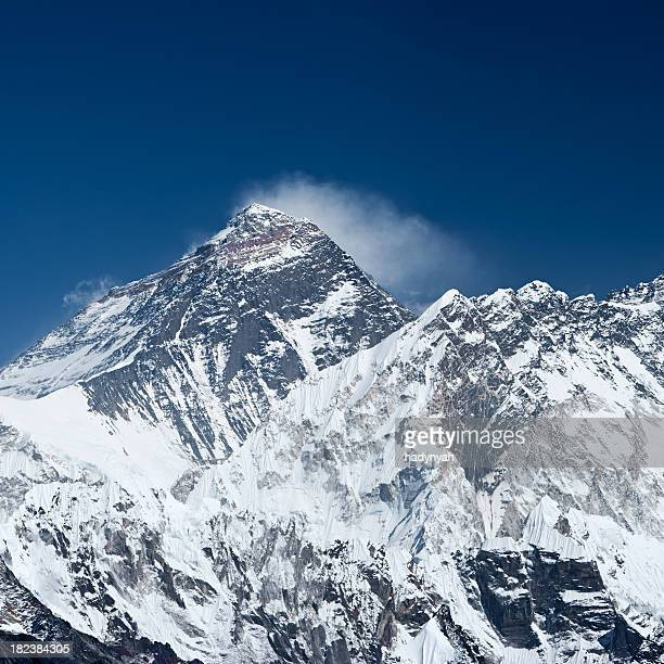 mount everest and nuptse - solu khumbu stock pictures, royalty-free photos & images