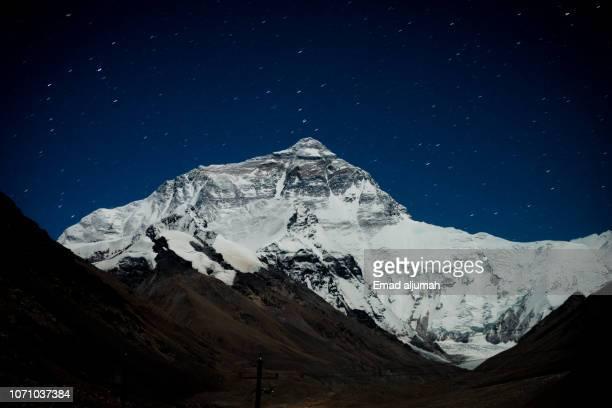 mount everest, everest base camp, tibet - himalaya photos et images de collection