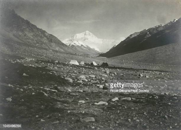 Mount Everest from Base Camp in Rongbuk valley at 16 500 feet 14 miles northnorthwest Tibet China Mount Everest Expedition 1921
