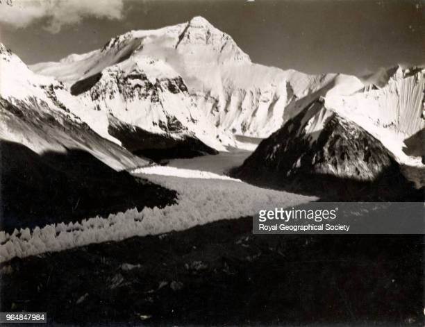 Mount Everest from Rongbuk Glacier nine miles north west China May 1921 Mount Everest Expedition 1921