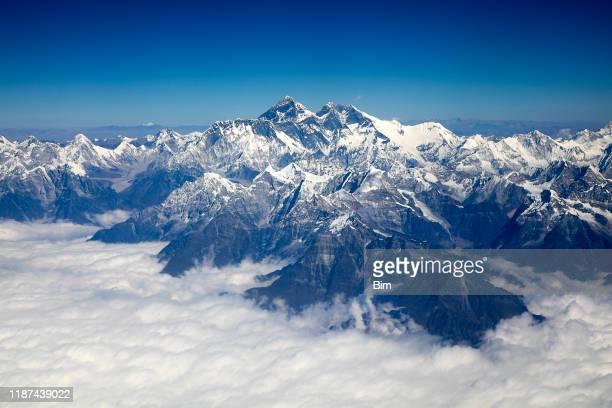 エベレスト山, ヒマラヤ, 空中写真 - エベレスト ストックフォトと画像