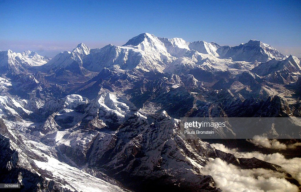 Aerial View Of Mount Everest : News Photo