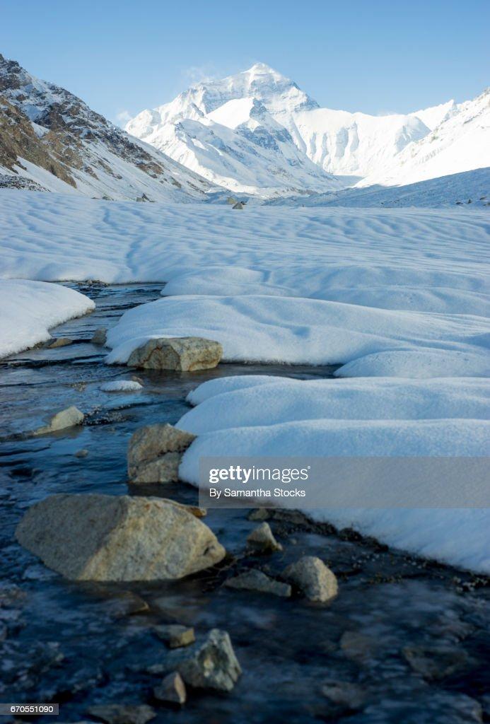 Mount Everest, north face, Tibet : Stock Photo