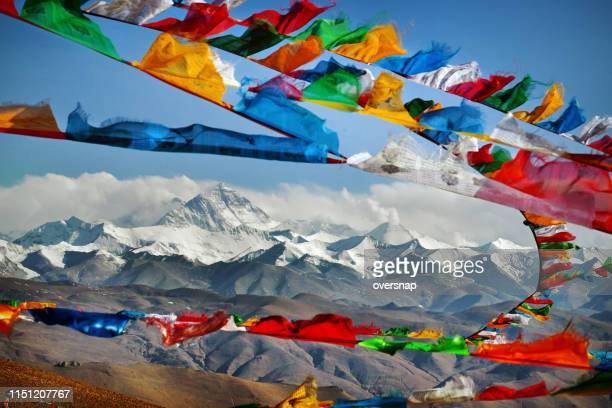 mount everest - tibet stock pictures, royalty-free photos & images