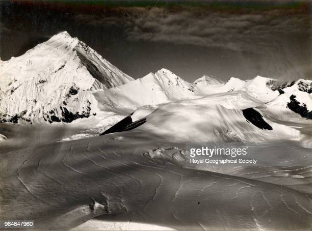 Mount Everest showing North Peak and Col Mount Everest showing North Peak and Col from peak above advanced camp China May 1921 Mount Everest...