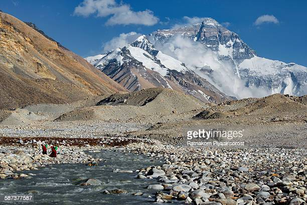 Mount everest viewd from the BC in Tibet