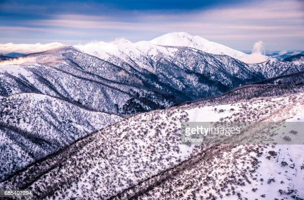 mount feathertop in australian alps, victoria - great dividing range stock-fotos und bilder