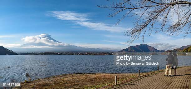 Mount Fuji and Kawaguchi lake, Japan