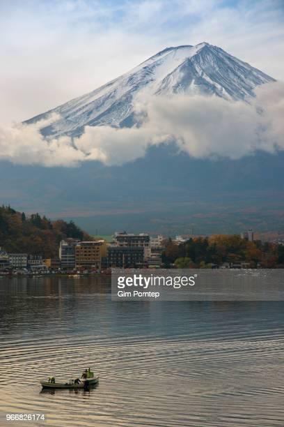Mount Fuji and the lifestyle of kawaguchi lake , yamanashi , japan