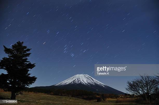 Mount Fuji and Winter Stars