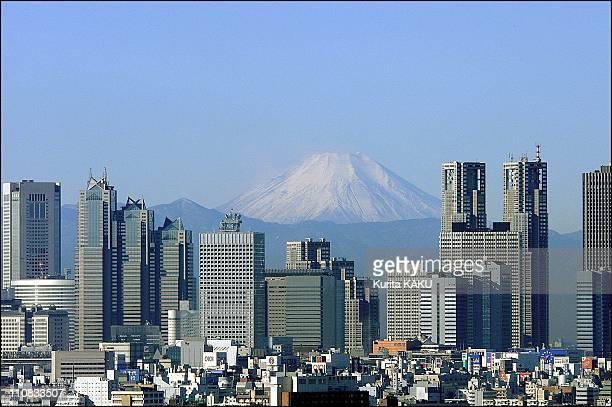 Mount Fuji Illustration In Tokyo Japan On December 26 2000