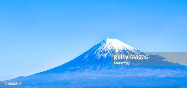 mount fuji in blue sky day, fuji city, japan - shizuoka stock pictures, royalty-free photos & images