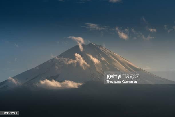 Mount Fuji peak