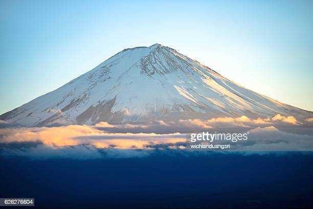 mount fuji - stratovolcano stock photos and pictures