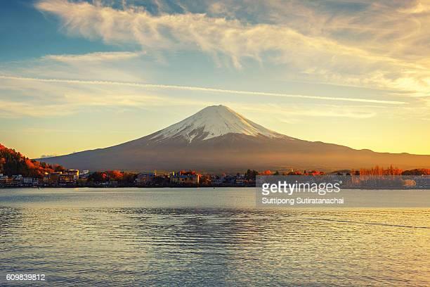 Mount fuji reflection at Lake kawaguchiko