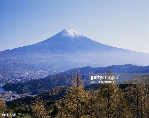 Mount Fuji, seen from Misaka mountain pass