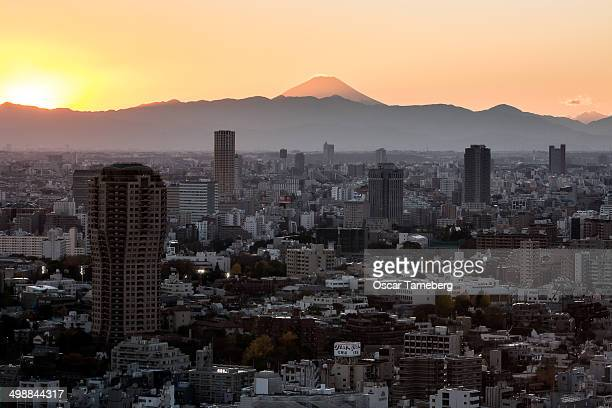 Mount Fuji sunset, Tokyo
