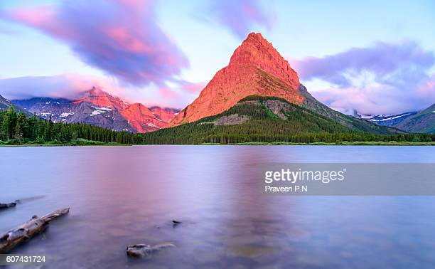 Mount Grinnell during sunrise